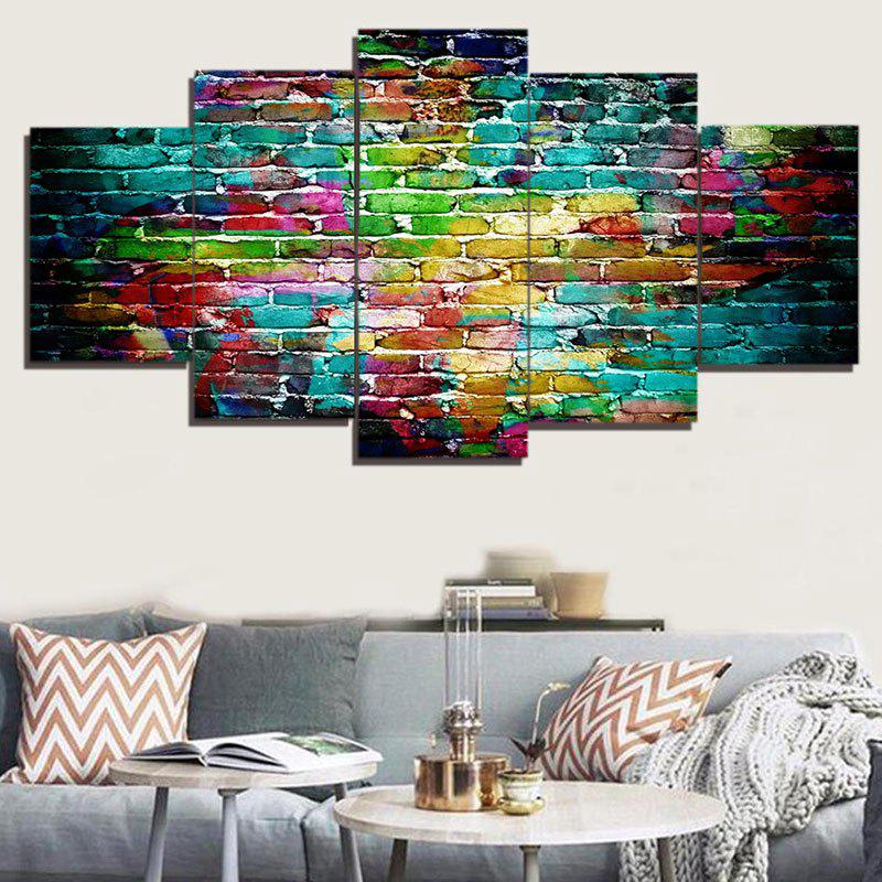 Colorful Bricks Wall Printed Unframed Canvas Paintings burning guitar pattern unframed wall art canvas paintings