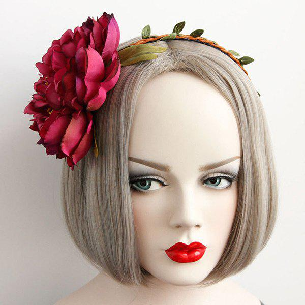Blossom Braid Feuille Vintage Hairband - Rouge