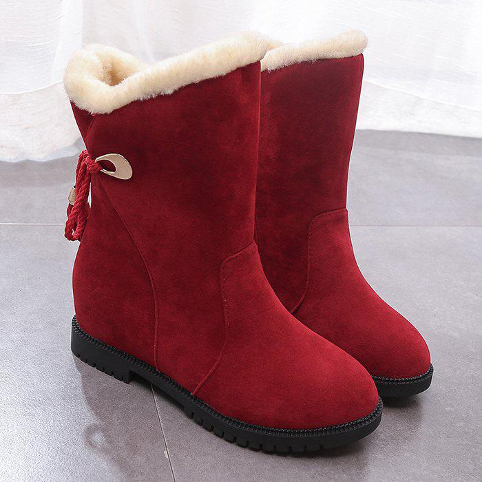 Tassels Low Heel Snow Boots