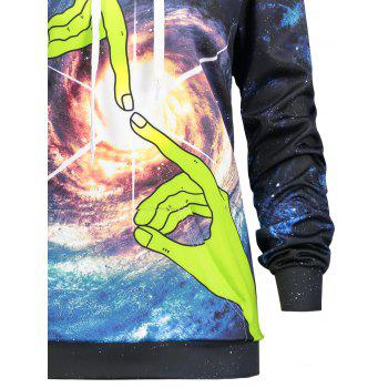 Kangourou Pocket Universe Finger Touch Hoodie - multicolorcolore 2XL