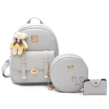 Metal Bow 3 Pieces Backpack Set