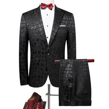 One Button Lapel Phyton Blazer Suit