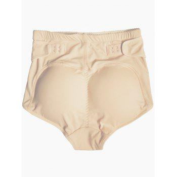 Push Up High Waist Padded Panties - COMPLEXION 2XL