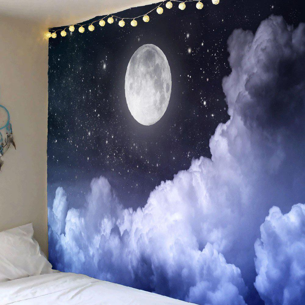 Clouds Moon Starry Sky Printed Wall Art Tapestry moon flac jeans