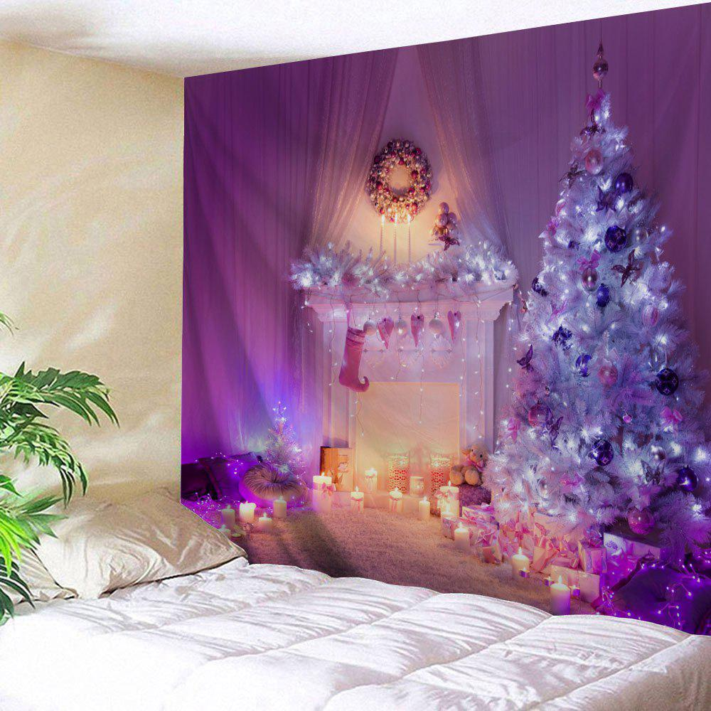 Wall Hanging Christmas Fireplace Tree Pattern Tapestry waterproof merry christmas graphic pattern wall hanging tapestry