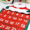 Christmas Santa Claus Countdown Advent Calendar - RED
