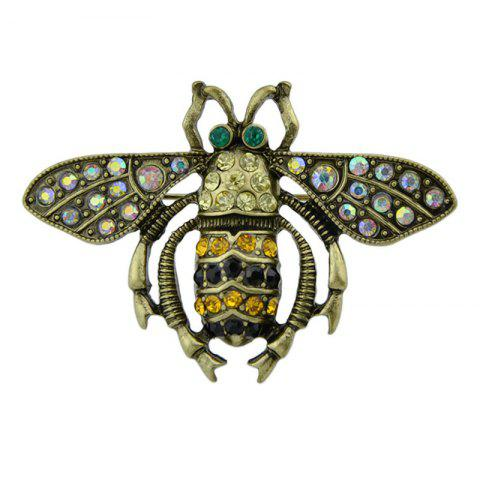Vintage Rhinestoned Insect Brooch - GOLDEN