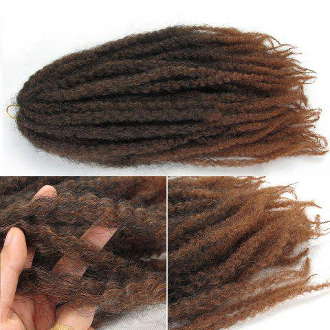 Long Fluffy Afro Curly Colormix Synthetic Hair Weft - AUBURN BROWN 30