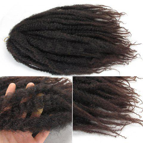 Long Fluffy Afro Curly Colormix Synthetic Hair Weft - DARK AUBURN BROWN