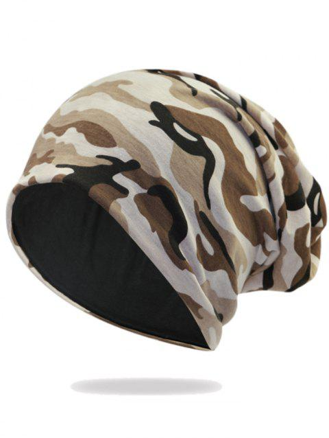 Camouflage Pattern Decorated Baggy Beanie Hat - PATTERN A