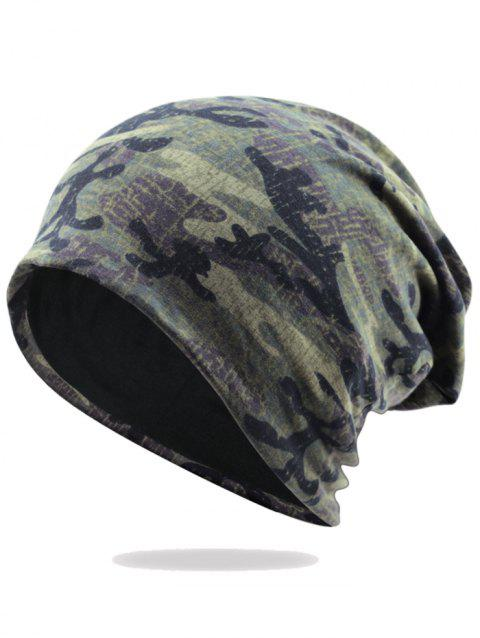 Camouflage Pattern Decorated Baggy Beanie Hat - PATTERN E