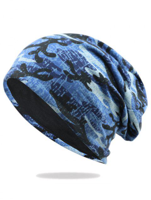 Camouflage Pattern Decorated Baggy Beanie Hat - PATTERN G