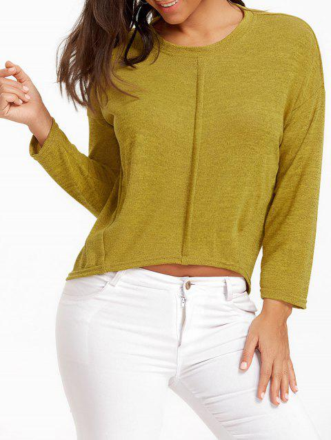 Oversized High Low Tunic Sweater - GINGER S