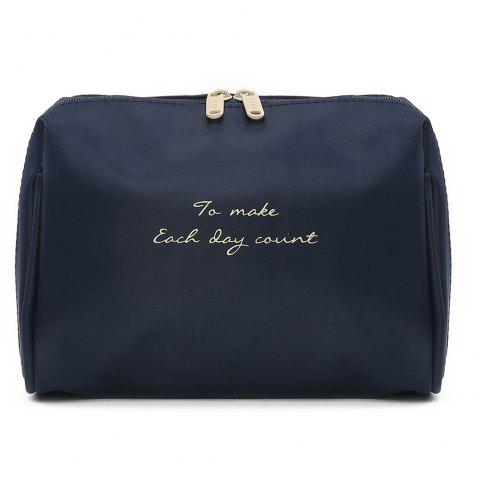 Travelling Waterproof Letter Print Storage Bag - DEEP BLUE