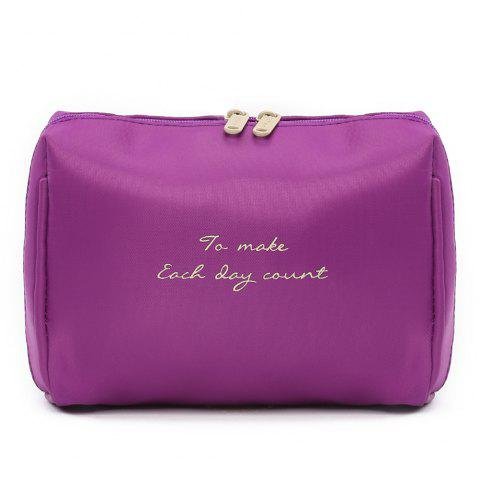 Travelling Waterproof Letter Print Storage Bag - PURPLE