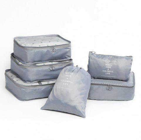 Travelling 6 Pieces Multifunctional Storage Bag Set - GRAY