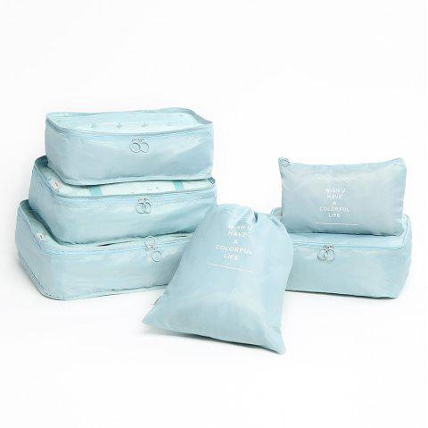 Travelling 6 Pieces Multifunctional Storage Bag Set - LAKE BLUE