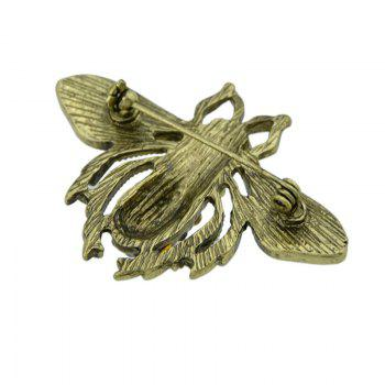 Broche Insecte Vintage Rhinestoned - Or