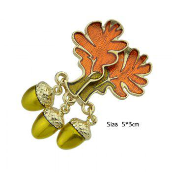 Bullet Tree of Life Shaped Brooch - ORANGE
