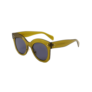 Vintage Anti UV Full Frame Driver Sunglasses - DARK GREEN