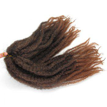 Long Fluffy Afro Curly Colormix Synthetic Hair Weft -  AUBURN BROWN