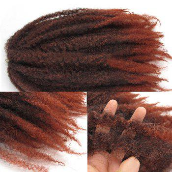 Long Fluffy Afro Curly Colormix Synthetic Hair Weft - BURNT ORANGE BURNT ORANGE