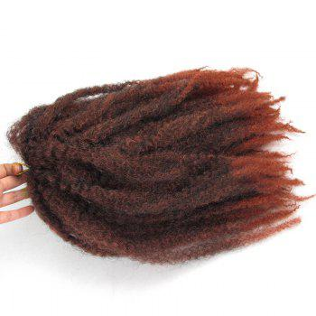 Long Fluffy Afro Curly Colormix Synthetic Hair Weft - BURNT ORANGE