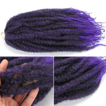 Long Fluffy Afro Curly Colormix Synthetic Hair Weft - PURPLE PURPLE