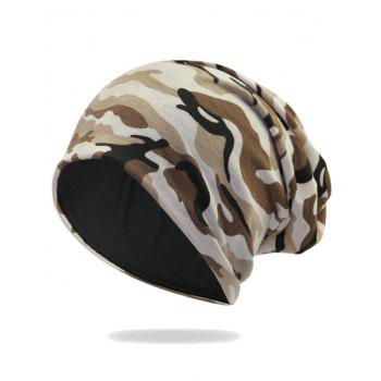 Camouflage Pattern Decorated Baggy Beanie Hat - PATTERN A PATTERN A