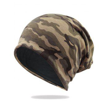 Camouflage Pattern Decorated Baggy Beanie Hat - PATTERN B PATTERN B