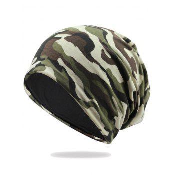 Camouflage Pattern Decorated Baggy Beanie Hat - PATTERN C PATTERN C