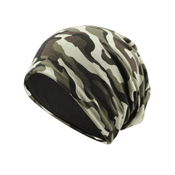 Camouflage Pattern Decorated Baggy Beanie Hat -  PATTERN C