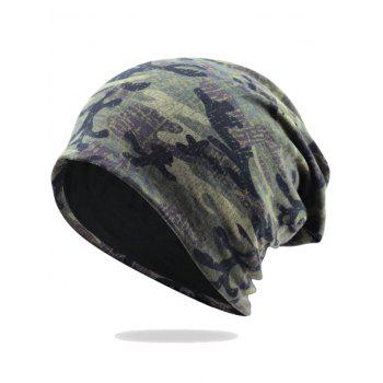 Camouflage Pattern Decorated Baggy Beanie Hat - PATTERN E PATTERN E