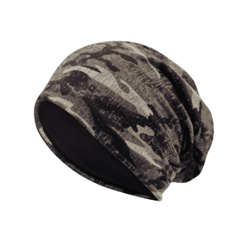 Camouflage Pattern Decorated Baggy Beanie Hat -  PATTERN F