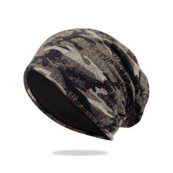 Camouflage Pattern Decorated Baggy Beanie Hat - PATTERN F PATTERN F