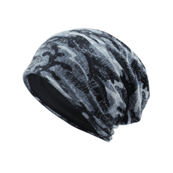 Camouflage Pattern Decorated Baggy Beanie Hat -  PATTERN I