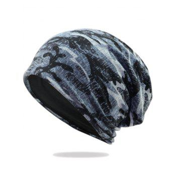 Camouflage Pattern Decorated Baggy Beanie Hat - PATTERN I PATTERN I