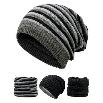 Open Top Decorated Reversible Crochet Knitted Beanie - BLACK BLACK