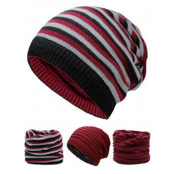 Open Top Decorated Reversible Crochet Knitted Beanie - WINE RED WINE RED