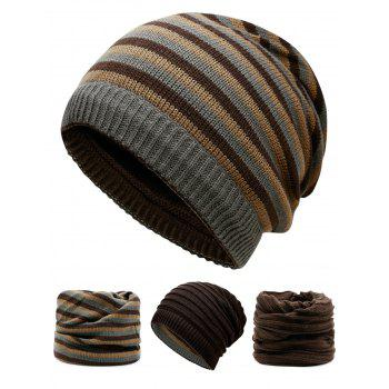 Open Top Decorated Reversible Crochet Knitted Beanie - COFFEE COFFEE