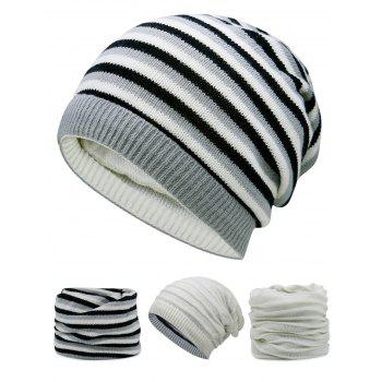 Open Top Decorated Reversible Crochet Knitted Beanie - OFF-WHITE OFF WHITE