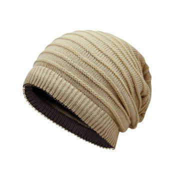 Open Top Decorated Reversible Crochet Knitted Beanie - PALOMINO