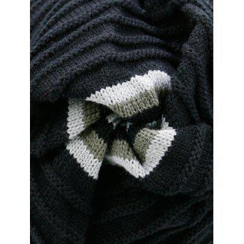 Open Top Decorated Reversible Crochet Knitted Beanie -  PEARL DARK GREY