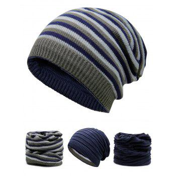 Open Top Decorated Reversible Crochet Knitted Beanie - CERULEAN CERULEAN