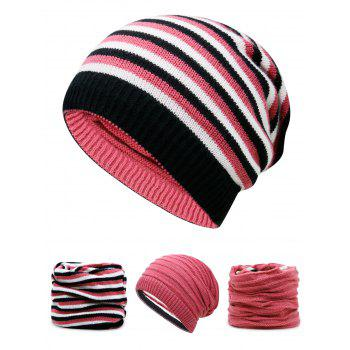 Open Top Decorated Reversible Crochet Knitted Beanie - WATERMELON RED WATERMELON RED