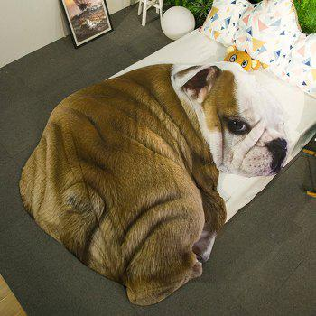 Cartoon 3D Bulldog Print Bed Summer Quilt - BROWN 80*115CM