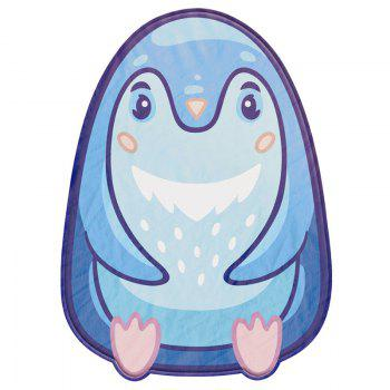 Cartoon Fat Penguin Print Bed Summer Quilt - BLUE BLUE