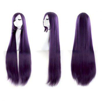 Ultra Long Inclined Fringe Straight Synthetic Party Wig - CONCORD CONCORD