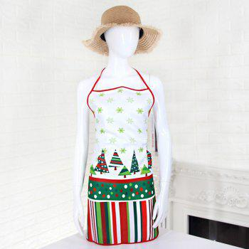 Christmas Theme Santa Print Cooking Apron -  COLORMIX