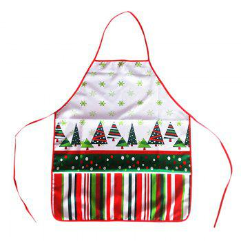 Christmas Theme Santa Print Cooking Apron - COLORMIX COLORMIX